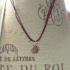 TOUS Small Silver Pendant & Brown cord 🐻📿